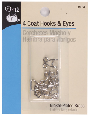 Coat Hook & Eyes (2 colors)