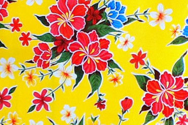 Hibiscus Oilcloth by the ROLL (6 colors)