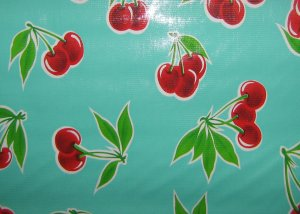 Cherries Oilcloth By The ROLL (4 colors)