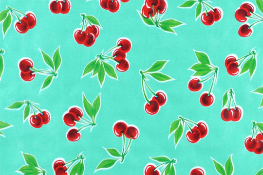 Cherries Oilcloth* (2 colors)